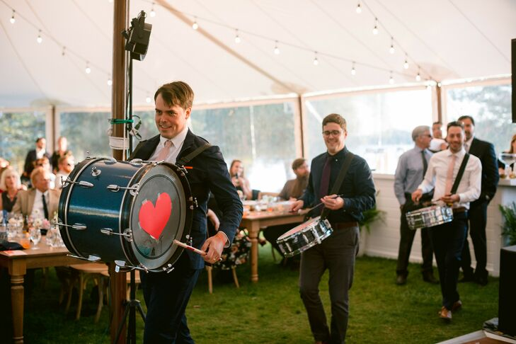 Drum Entertainment During First Dance
