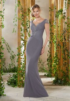 MGNY 71923 Blue Mother Of The Bride Dress