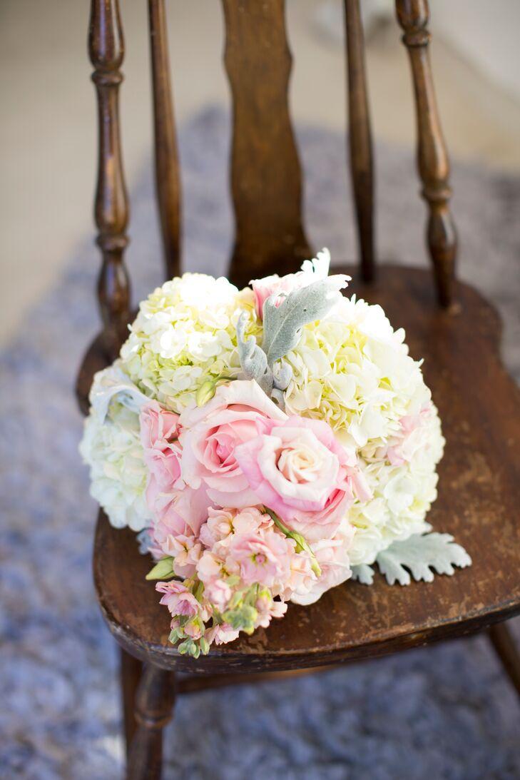 Diy Rose Hydrangea Sweet Pea Bouquet
