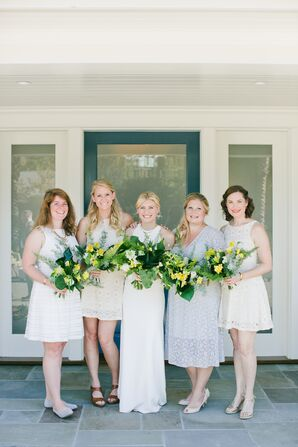 Modern, Simple Lace Bridesmaid Dresses