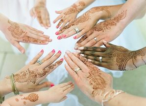 Bridesmaids with Traditional Hindu Henna