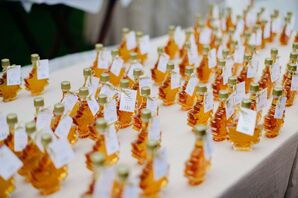 Maple Syrup Favors at Wedding in Stowe, Vermont