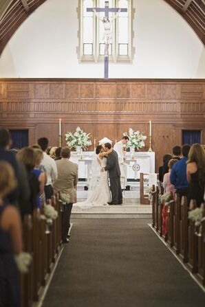 Lauren and Bryan First Kiss at St. Agnes