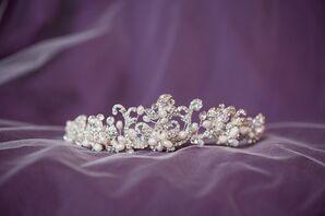 Vintage-Style Pearl and Crystal Tiara