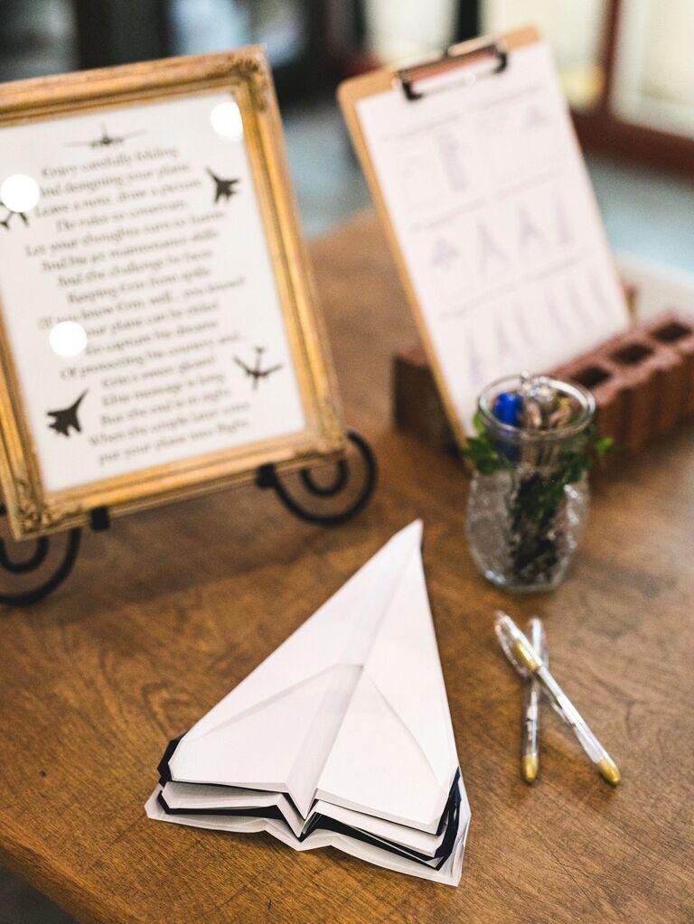 Paper airplane guest book alternative