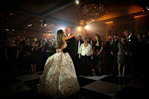 Formal Couple Sharing First Dance at The Rittenhouse Hotel in Philadelphia