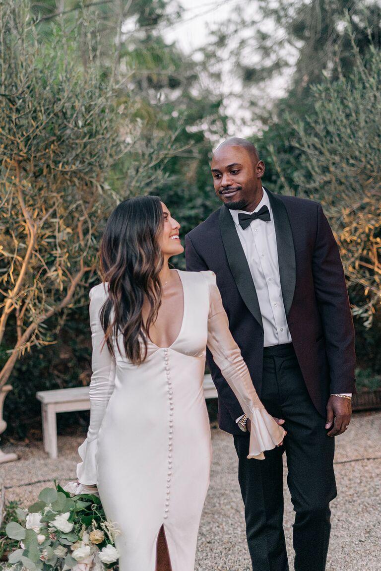 erin lim and husband wedding day