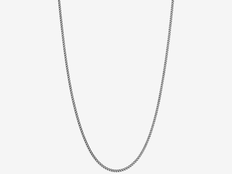 Minimalist silver chain traditional 25th anniversary gift idea