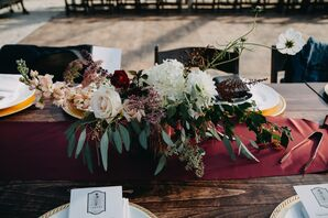 Autumnal Eucalyptus and Rose Centerpiece