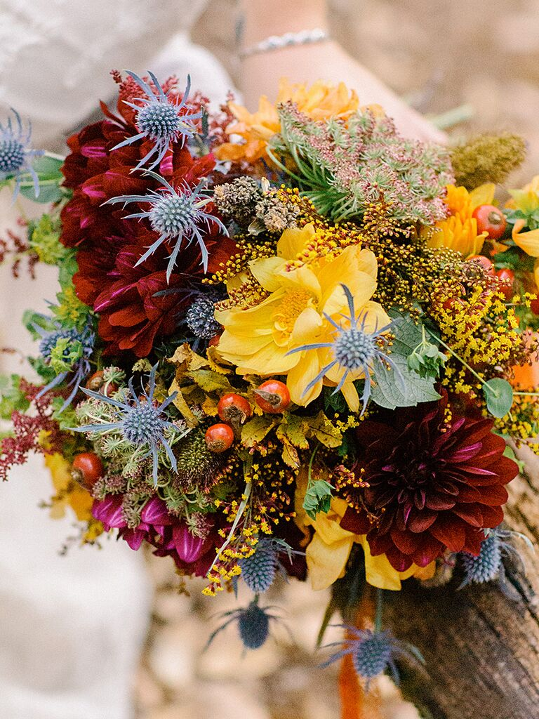 Wildflower bouquets the best wildflower bouquets from real weddings rustic wildflower wedding bouquet izmirmasajfo