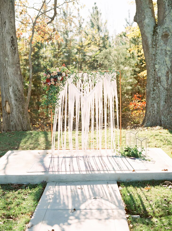 Ceremony Altar with Bohemian Macramé