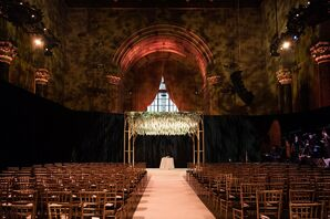 Glamorous Ceremony Site with Chuppah at Cipriani 42nd Street in New York City