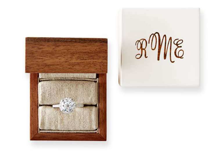 engagement ring box ideas wooden