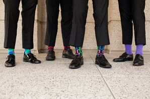 Colorful Mixed Groomsmen Socks