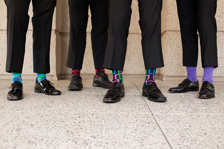 Colorful Mixed Groomsmen Socks