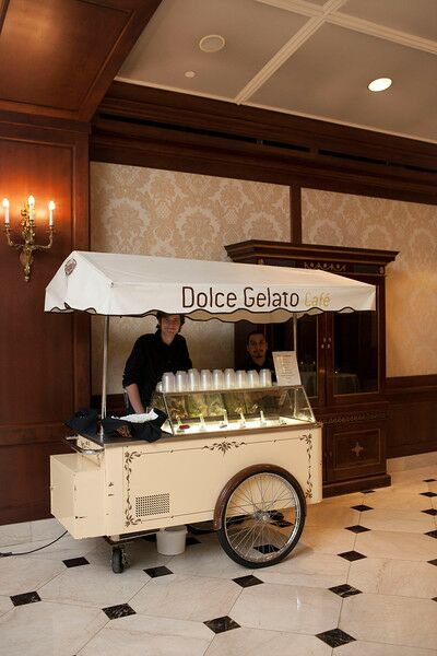 Guests enjoyed eight specialty flavors of gelato as a sweet treat during the reception.