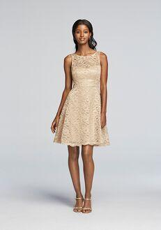 David's Bridal Collection David's Bridal Style F18031M Illusion Bridesmaid Dress