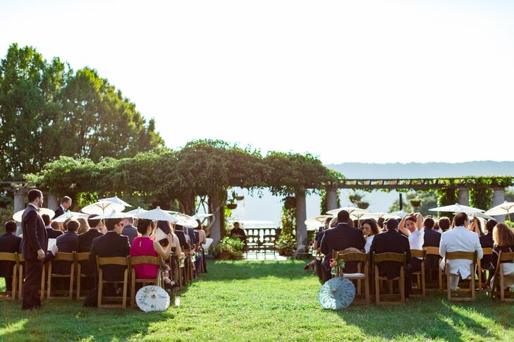 Outdoor Garden Ceremony at Wave Hill in Bronx, New York