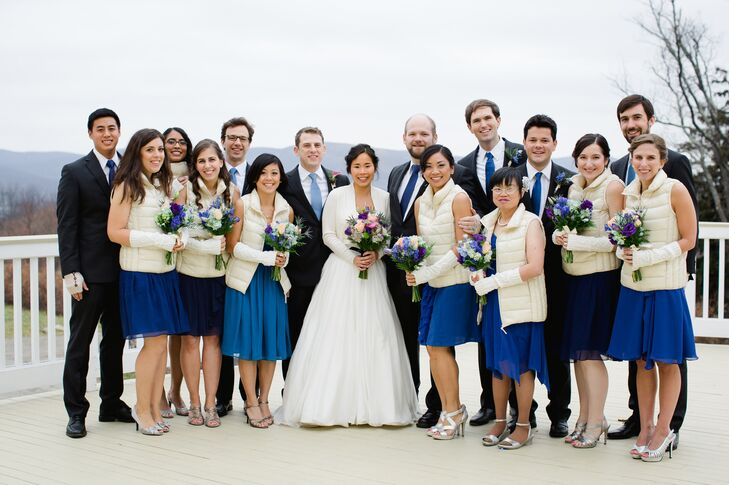 3883c90418cea Blue Winter Wedding Party