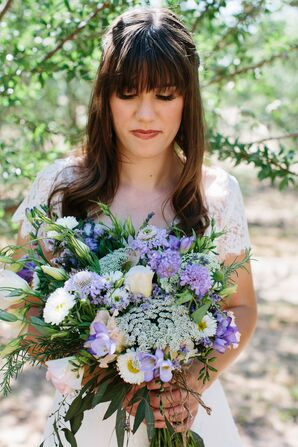 Natural Lavender and Ivory Bouquet