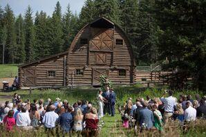 Historic Barn Ceremony Backdrop