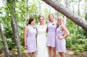 Purple Ann Taylor Bridesmaid Dresses