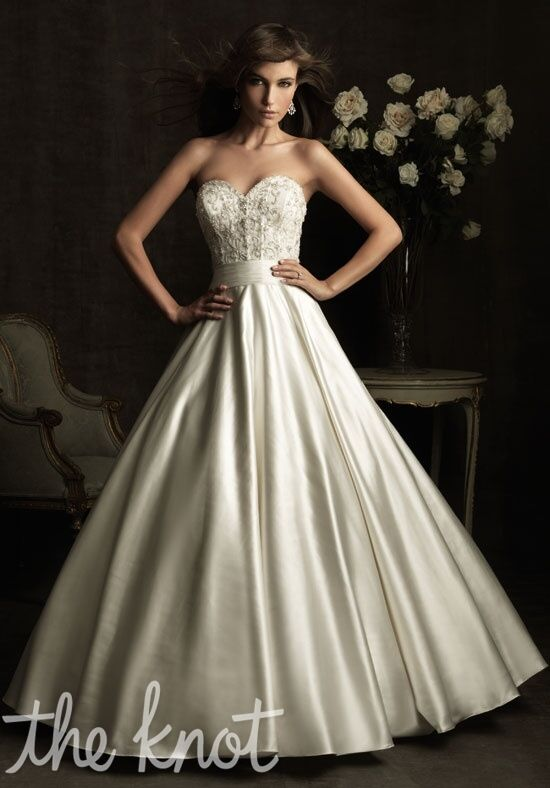 Allure bridals 8904 wedding dress the knot for Wedding registry the knot