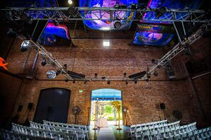 Bloom-Covered Birch Chuppah at The American Visionary Art Museum