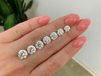 Different diamond carat sizes on hand