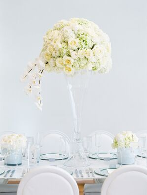 Luxe Arrangement in Tall Clear Trumpet Vase