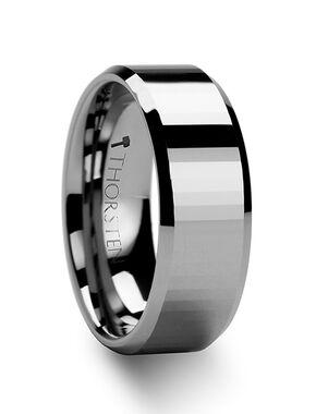 Mens Tungsten Wedding Bands W273-RFB Tungsten Wedding Ring