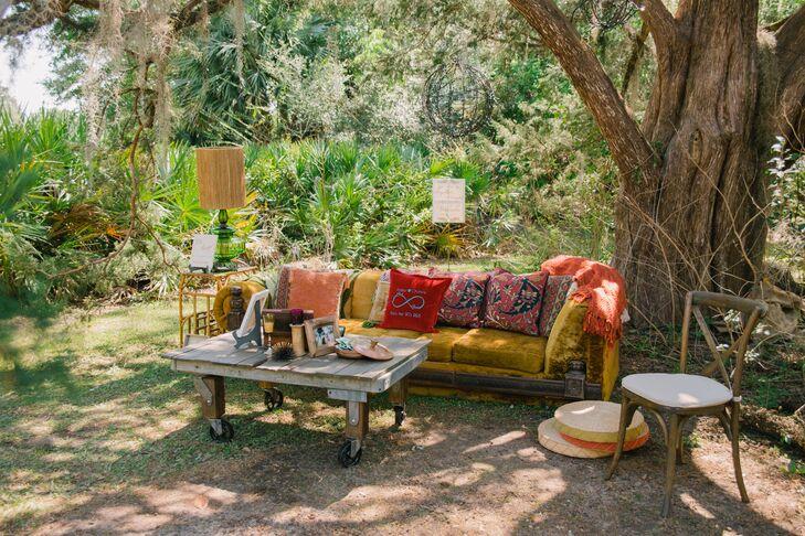 Bohemian Vintage Lounge Setup