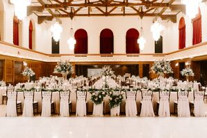 Elegant Head Table with Sweetheart Chairs