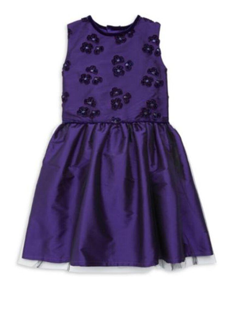 Isabel Garreton little girl's embroidery taffeta dress