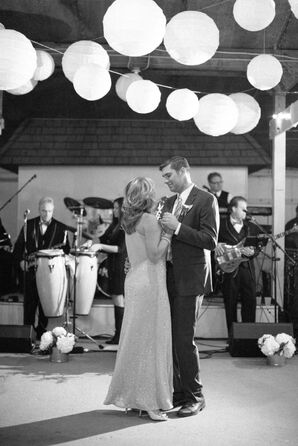 Groom Dancing With His Mother to Live Music