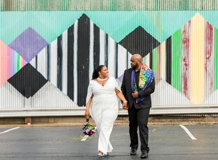 """Instead of sticking with traditions, JameetaDavis and Lee Davis focused on having fun at their <i>Love & Hip Hop</i>–themed wedding. """"We wanted an in"""