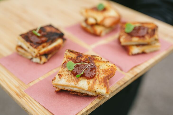 Passed Grilled Cheese Squares