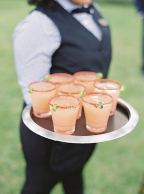 Spicy Paloma Signature Cocktails on Serving Tray