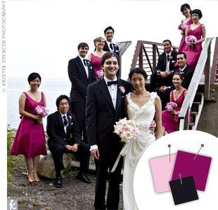 Wedding Color Combo: Light Pink + Bergundy + Black