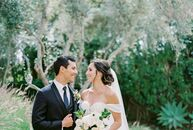 Paige Breon and Michael D'Arrigo wanted a classic, sophisticated wedding with romantic undertones and a soft color palette. The day started with a Cat