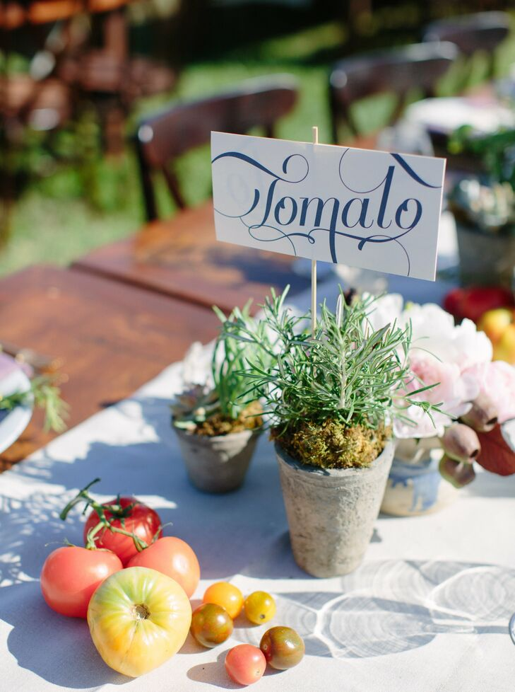 Each table was themed after a different fresh produce with versions of the fruit or vegetable artfully displayed.