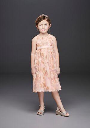 David's Bridal Flower Girl RK1383 Pink Flower Girl Dress