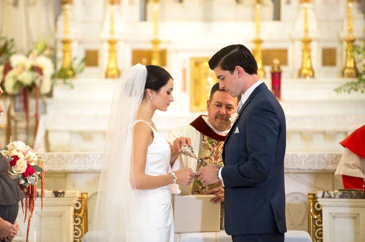 Exchanging Rings at St. Sebastian Church