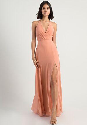 Jenny Yoo Collection (Maids) Bryce V-Neck Bridesmaid Dress