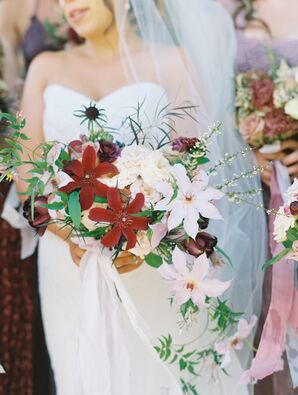 Overflowing Red and Pink Bouquet
