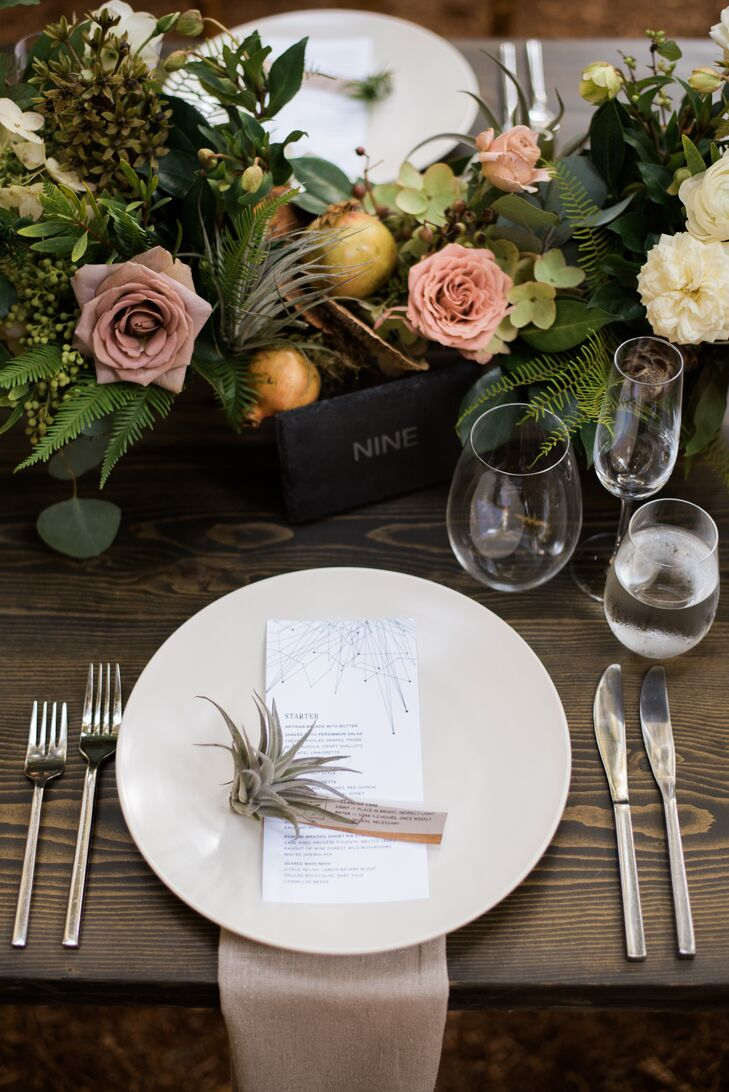 Air-Plant-Accented Place Settings