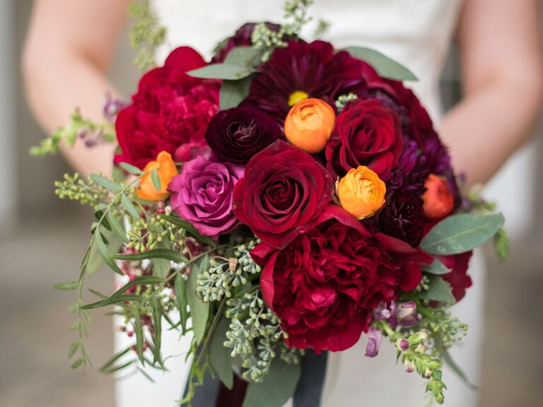 Jewel Tone Bouquets For Fall And Winter Weddings