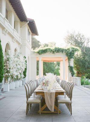 Long Wood Reception Table at Montalvo Arts Center in Saratoga, California