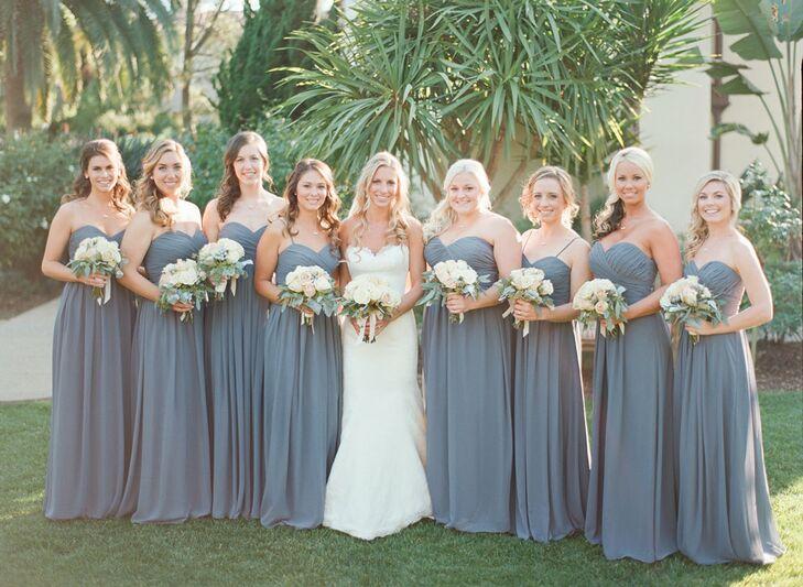 Charcoal Bridesmaid Dress