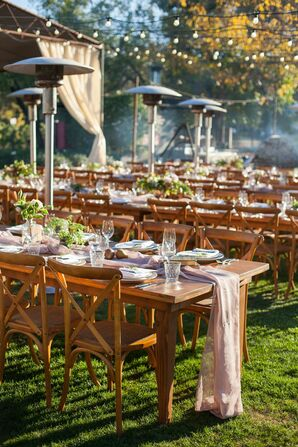 Farm Table Reception in Saint Helena, California
